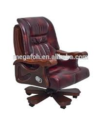 Red Leather Office Chair Office Furniture Luxury Red Leather Principal Chair Foh
