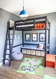 Bunk Bed With Loft Double Loft Bed Rope Ladder Diy Kids Diy Pinterest Double