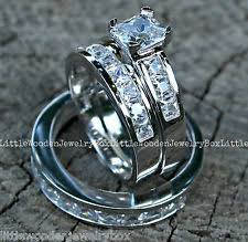 wedding band sets for him and his and wedding band sets ebay