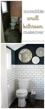 ideas for small bathrooms makeover small bathroom makeover navy paint hale navy and small bathroom