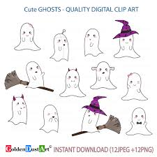 20 off sale cute ghosts clipart kawaii ghost clipart cute