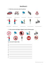 57 free esl signs worksheets
