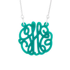 acrylic monogram necklace marble acrylic monogram necklace