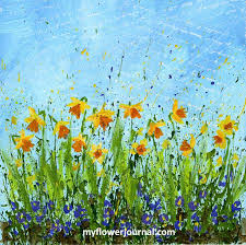 spring painting ideas daffodil doodles in 4 easy steps my flower journal