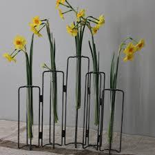 Test Tube Flower Vases Test Tube Vases On Iron Stand