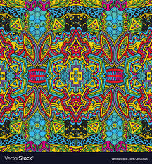 zentangle design colored hand drawn psychedelic zentangle pattern vector image