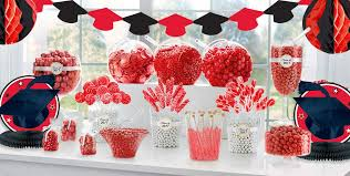 red graduation party supplies party city