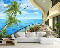 3d murals balcony tv setting wall scenery 3d room wallpaper landscape 3d