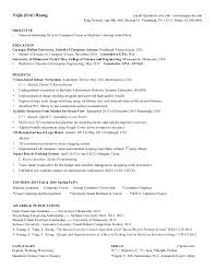 Resume For Computer Science Graduate Eric Huang Resume Cmu