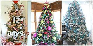themed christmas tree decorations colour theme christmas tree decoration festival collections