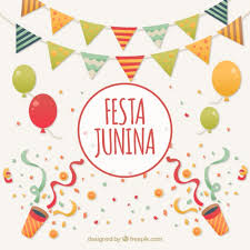 festa junina celebration background vector free