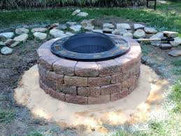 Patio Fire Pit Ideas Patio Ideas Building Outdoor Fire Pit Diy Circle Bench Around