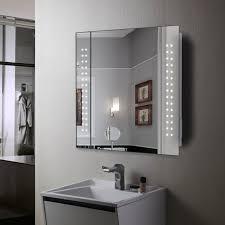 Illuminated Mirrored Bathroom Cabinets Mirror Cabinet 60 Led Light Illuminated Mirror Bathroom Mirror