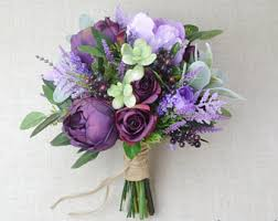 purple wedding bouquets view bouquets by blueorchidcreations on etsy