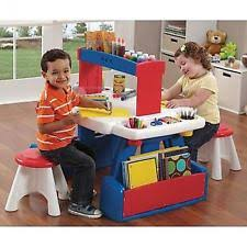 Kids Activity Table With Storage Sesame Street Table And Chairs Kids Elmo Activity Storage Set