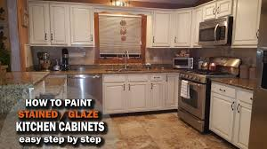 paint stained kitchen cabinets how to paint and glaze kitchen cabinets stained wood