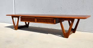 mid century modern surfboard coffee table select modern