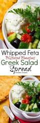 whipped feta blistered tomatoes greek salad spread collage jpg