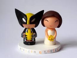 custom wolverine wedding cake topper