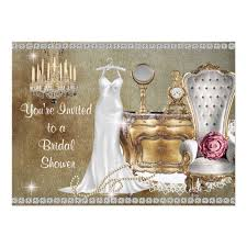 vintage bridal shower shabby chic vintage bridal shower invitation bling zazzle