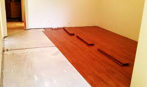laminate hardwood flooring on concrete