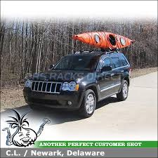 jeep grand cross rails 2010 jeep grand roof rack kayak carrier install car