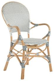 Blue Bistro Chairs Rattan Bistro Dining Chair White And Blue Set Of 2 Chairs