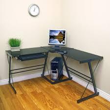 3 piece glass desk walker edison d51b29 soreno steel desk w glass top 3 piece