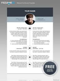 free resume template with top banner classic resume templates