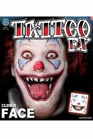 Halloween Makeup Clown by Evil Clown Halloween Makeup Creepy Clown Temporary Tattoo