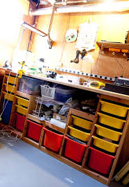 ikea garage storage hacks my ikea hack work bench made from ikea trofast storage units toy