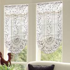 Mock Roman Shade Valance - decorative fan shaped botanical best fabric for roman shades