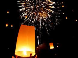 lanterns fireworks fireworks at yee peng chiang mai never ending voyage