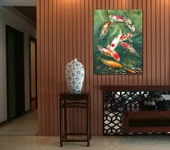 popular chinese koi fish painting buy cheap chinese koi fish 2016 hand painted canvas oil paintings one piece canvas wall art koi fish porch decoration chinese