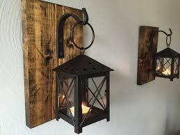 set of medium rustic wall mounted lantern sconces wall mount