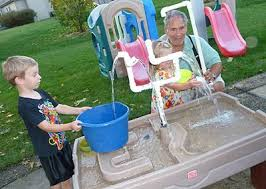 diy sand and water table pvc sand water table turned into endless water fun with pvc pipes