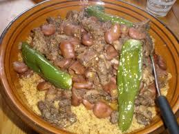 comment cuisiner les feves seches couscous à la tunisienne aux fèves et à la viande séchée filkoujina