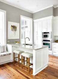Kitchen Peninsula Cabinets Kitchen Island Vs Peninsula Like The Crisp Clean Look Of Grey