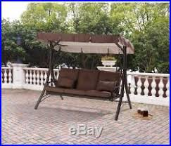 Yard Awning Outdoor Patio Swing Canopy Hammock 3 Person Backyard Furniture