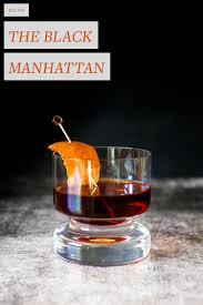 Recipe The Black Manhattan Jojotastic