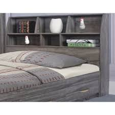full size bookcase headboard elegant grey finish full size bookcase headboard with six shelves