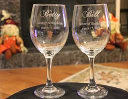 personalized glasses wedding 2 wine glasses wedding party engraved parents of the