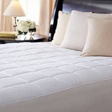 full size mattress pad soft plush fitted pillow top bed sunbeam premium quilted heated mattress pad