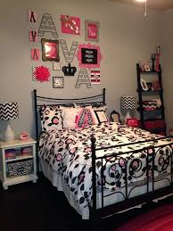 Interesting Pink And Black Girls Bedrooms Zebra Teen Bedroom In Design - Girls bedroom ideas pink and black