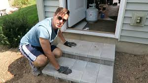 how to build cinder block steps youtube