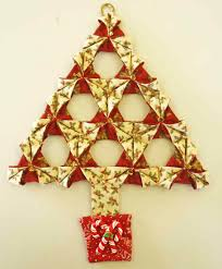 collection of origami christmas tree ornament all can download