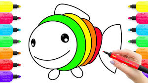 coloring pages fish learning drawing for kids how to draw toys