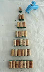 diy wine cork christmas tree tutorial decor by the seashore