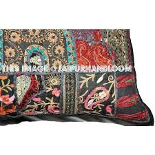 sofa patchwork indian embroidered throw pillows for boho patchwork sofa