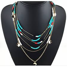 resin beaded necklace images Buy women bohemian multi layer resin beads jpg
